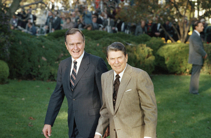 bush senior e reagan