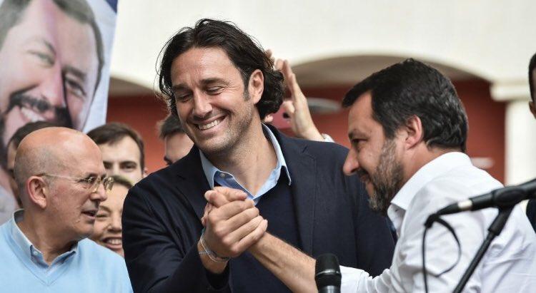 Luca Toni e Matteo Salvini