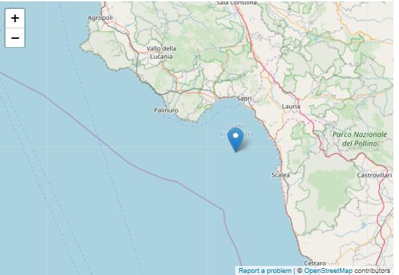 terremoto golfo di policastro