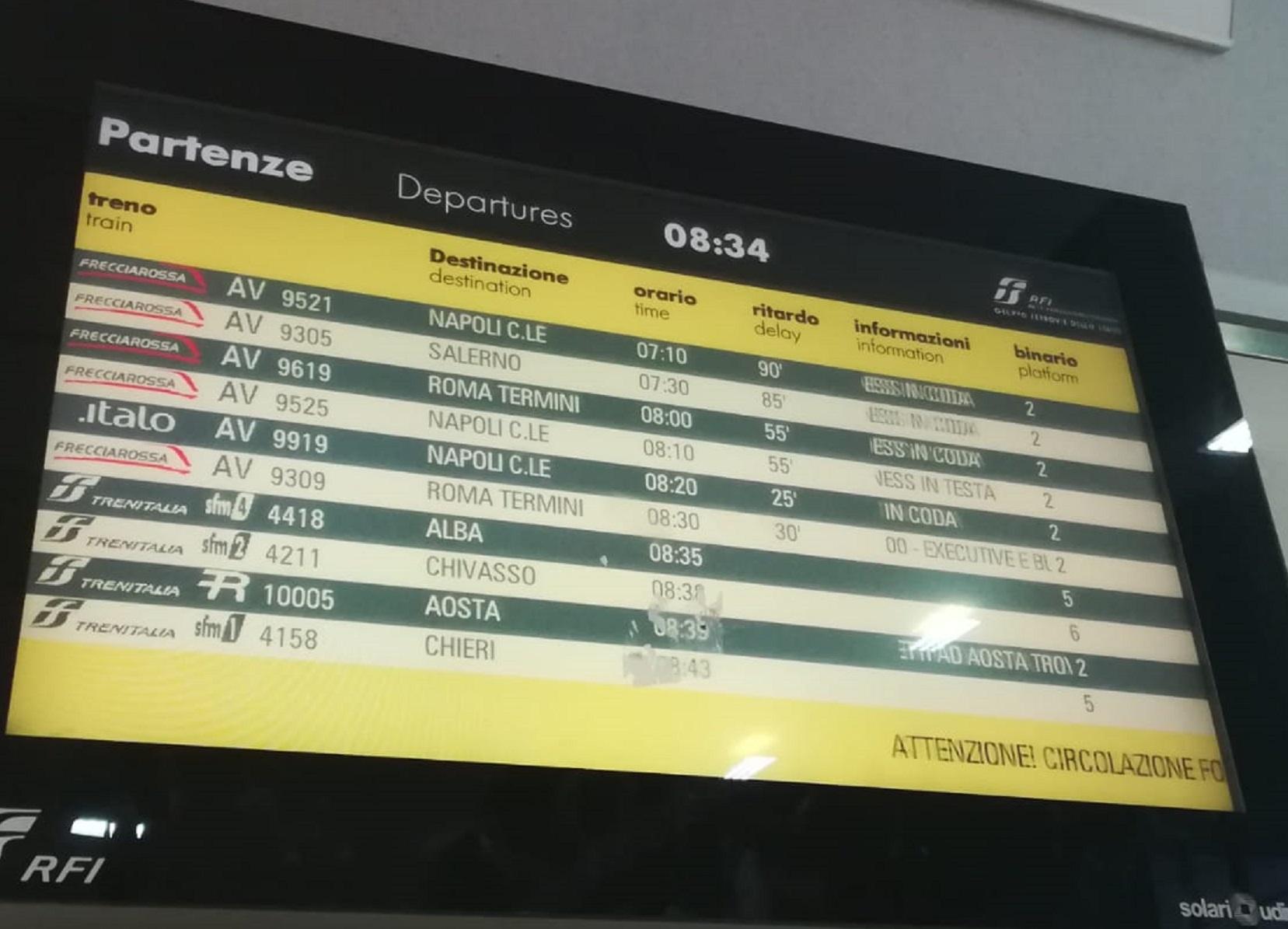 ritardi treni firenze