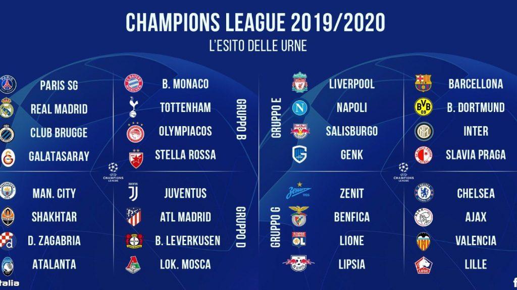 Champions Calendario Juve.Sorteggi Champions League 2019 20 La Juventus Ritrova L