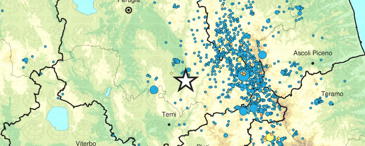 terremoto spoleto oggi