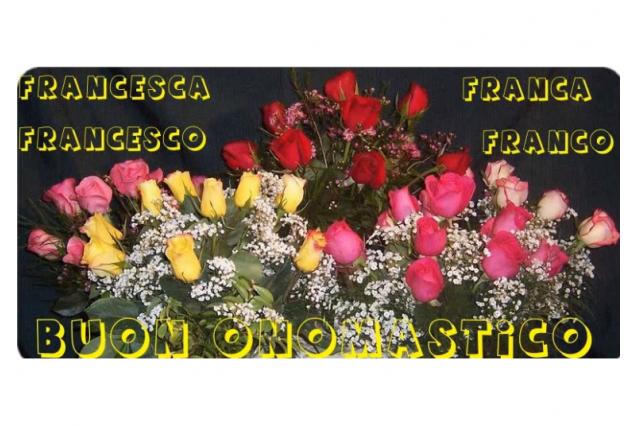Buon onomastico Francesco e Francesca, oggi 4 ottobre: video, gif e ...