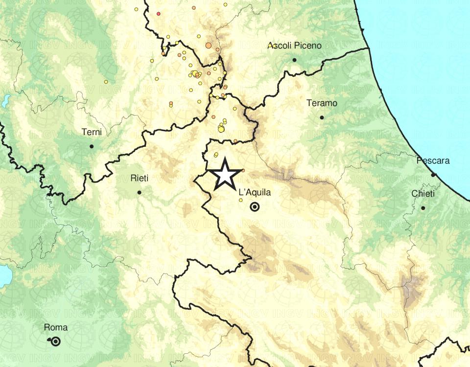 terremoto ora Barete