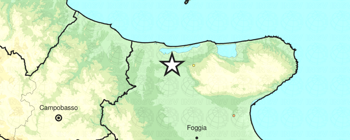 terremoto oggi Foggia